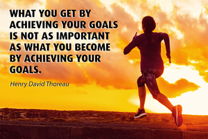 Achieving goals and continuous growth.