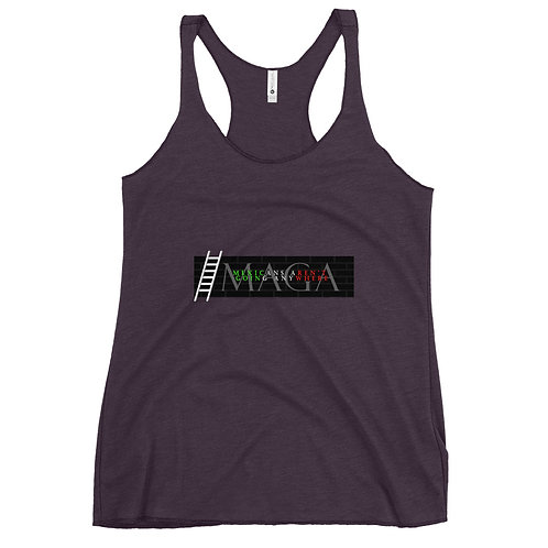 MAGA (Mexicans Aren't Going Anywhere) Women's Racerback Tank