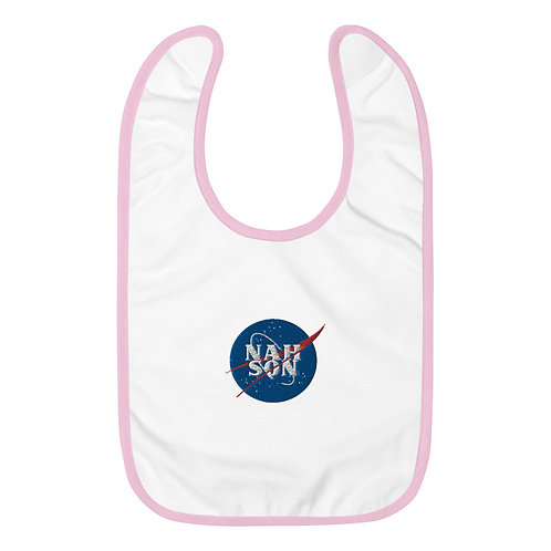 Nah Son Embroidered Baby Bib