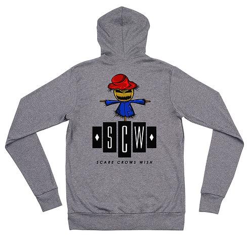 SCW Unisex zip hoodie