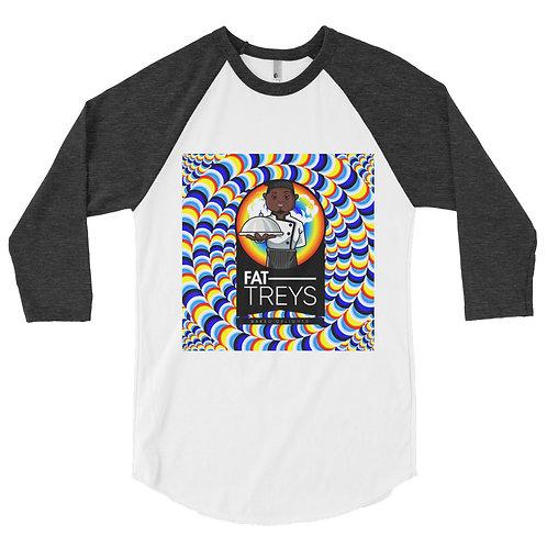 Fat Trey's Men's 3/4 sleeve raglan shirt