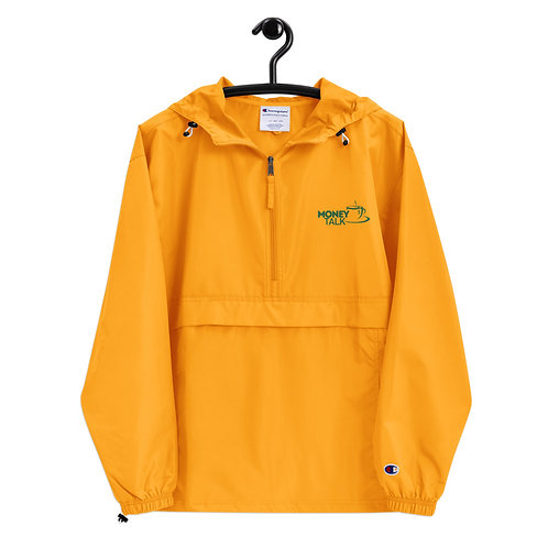 Money Talk Embroidered Champion Packable Jacket