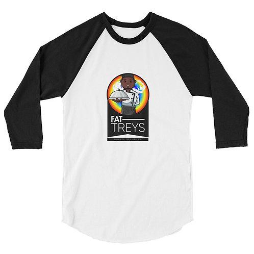 Fat Treys #2 3/4 sleeve raglan shirt