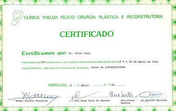 Fettabsaugung-Liposuction-Liposculpture Zertifikat Dr. Dana
