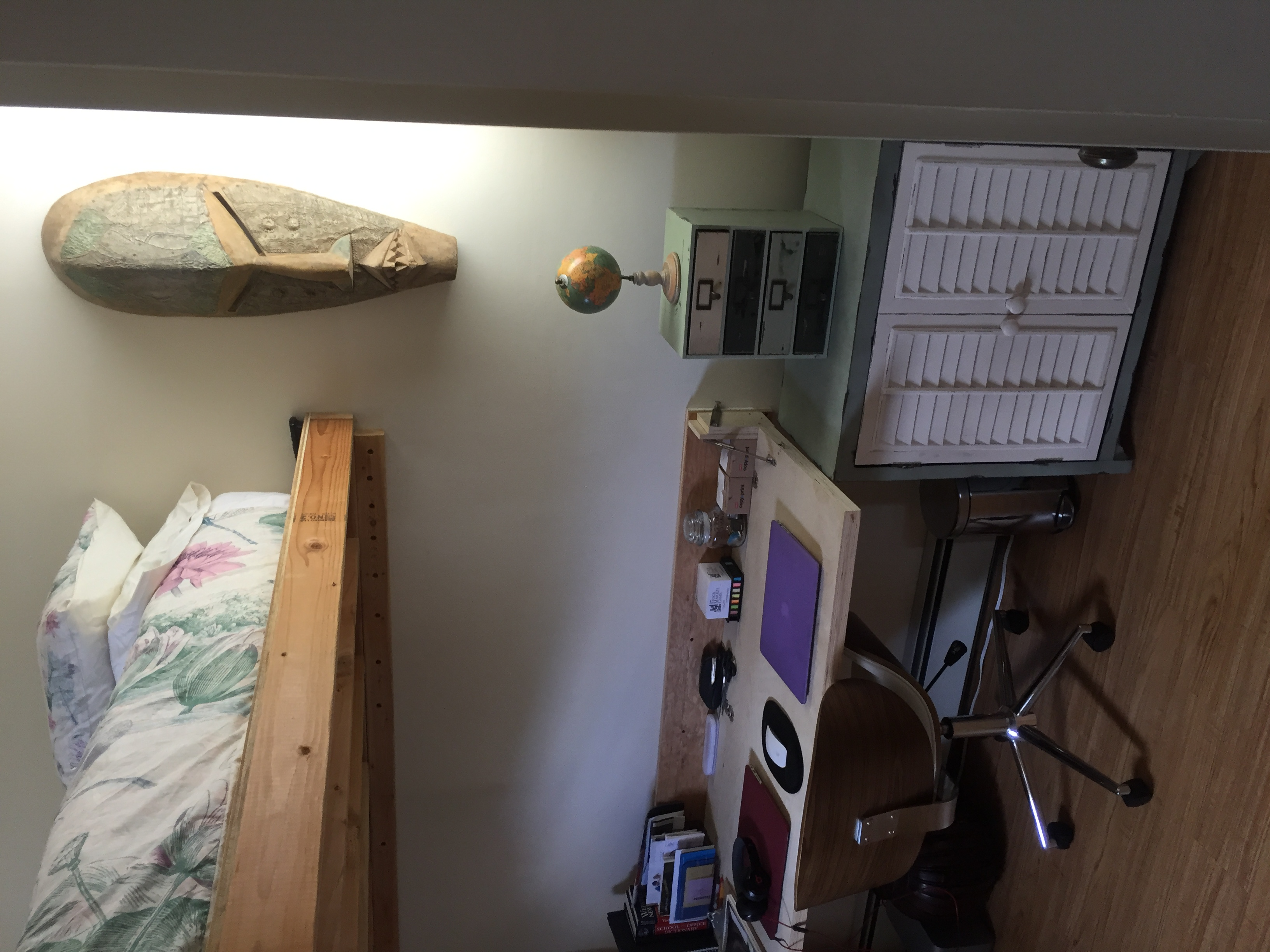 desk and loft bed