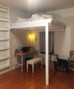 loft w wall mounted ladder