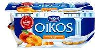DANONE OIKOS yaourt grec pêche 4x125g