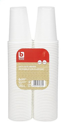BONI SELECTION GOBELET BLANC 18 CL 100 P
