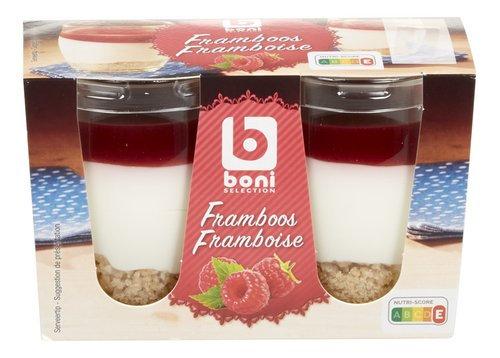 BONI dessert framboise Verre 2x85g 170g