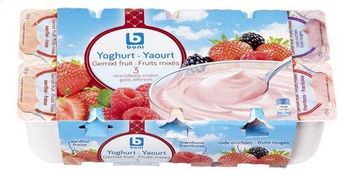 BONI yaourt fruits mixés 3 goûts 8x125g