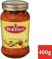 BERTOLLI sauce pâtes primavera 400g