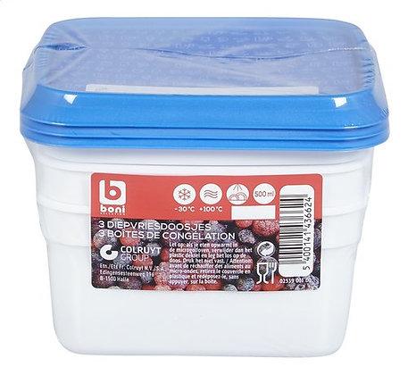 BONI SELECTION Boîte surgélateur 0,5L 3p