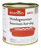 ECONOM saucisses Hotdog 48pc 2,650kg