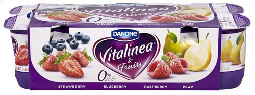 DANONE VITALINEA & Fruits 0%mg 8x125g