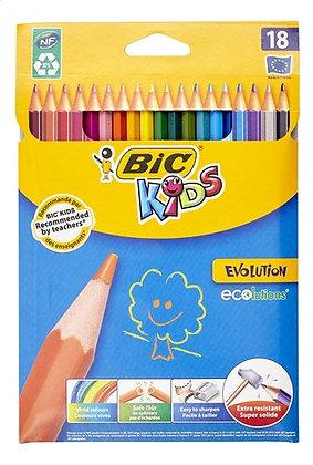 BIC crayons de couleur Evolution 18pc