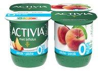 DANONE ACTIVIA yaourt pêche 0%mg 4x125g