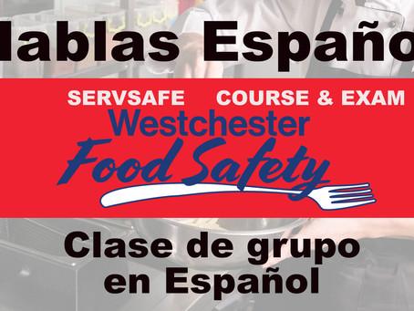 Spanish Servsafe Westchester Fairfield Course