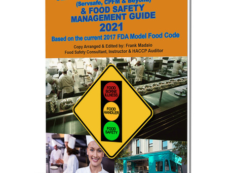 2021 Food Manager's Certification Safety Study Guide & Food Safety Management Guide Updated trends