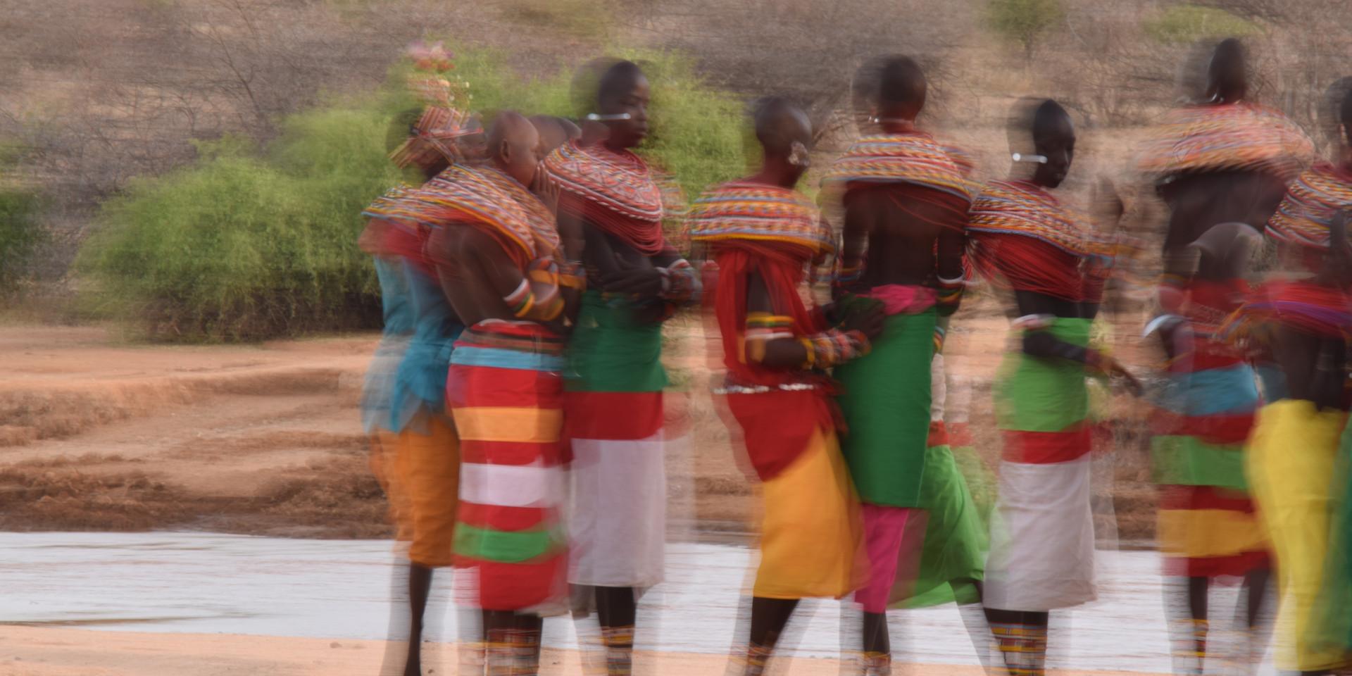 dancing in line