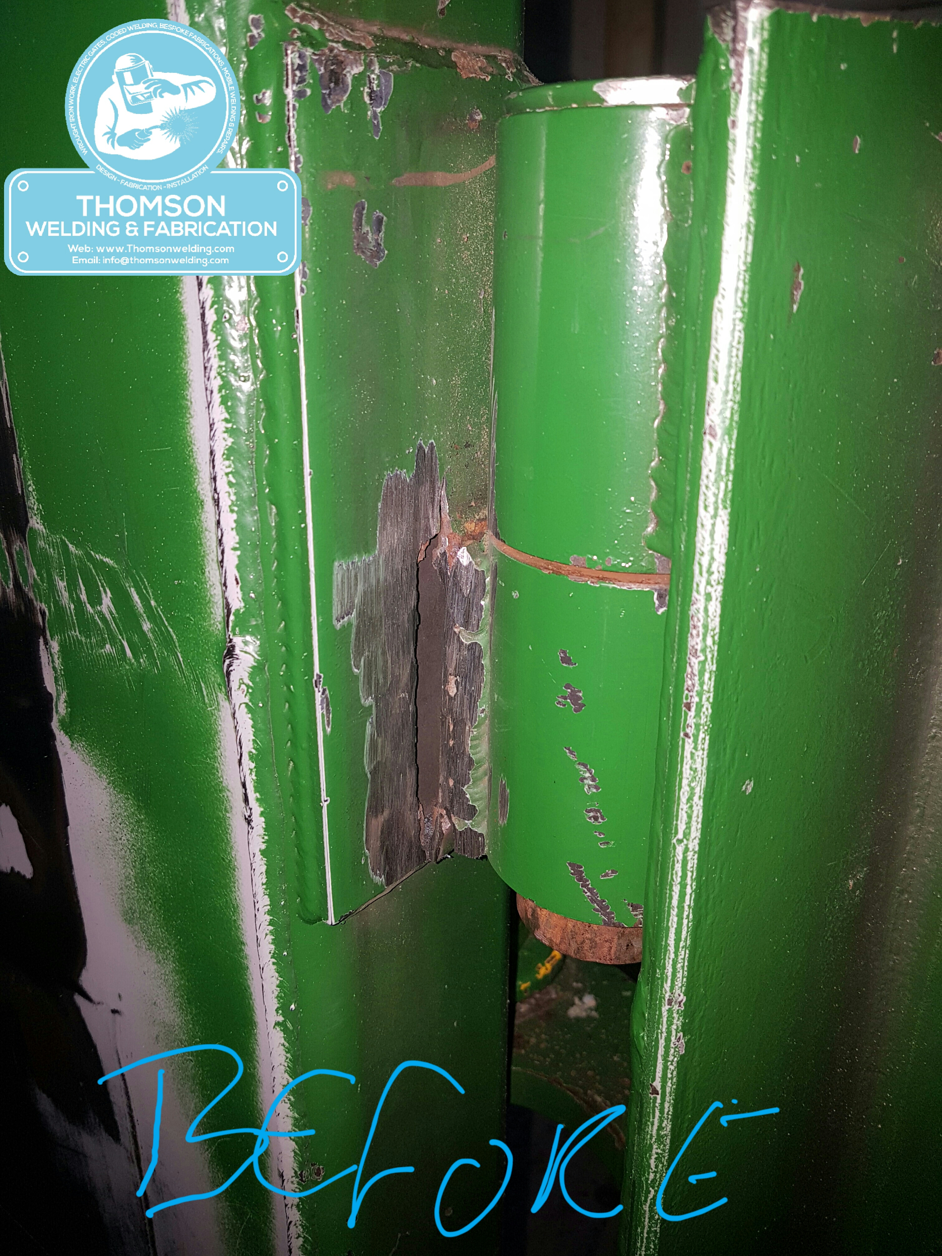 Site welding repair