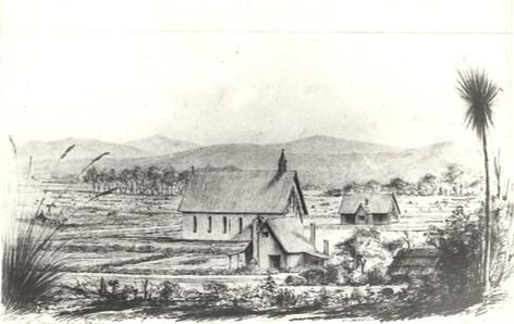 Native Church at Otaki 1853