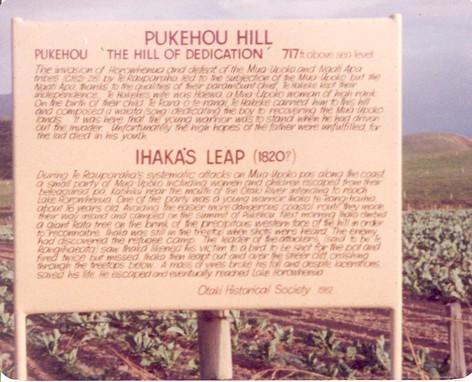 Heritage Billboard at Pukehou