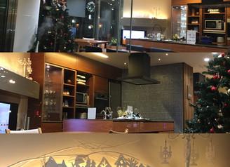 素敵なキッチンショールーム、茗荷谷『エクレア』さんでクリスマスディスプレイ
