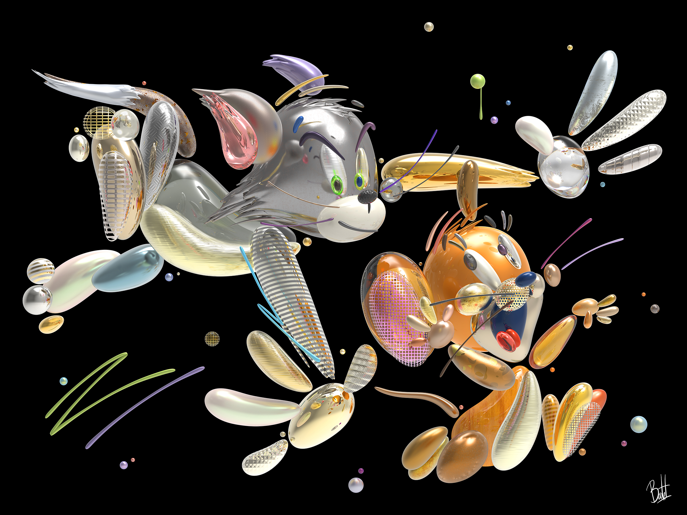 tom-jerry-catch-you-36x48