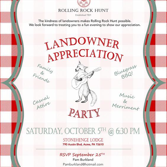 Landowner Appreciation Party