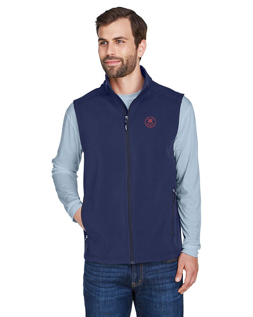 Men's Two-Layer Fleece Soft Shell Vest