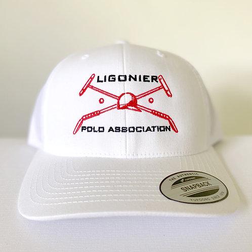 White Adult Mesh Trucker Hat