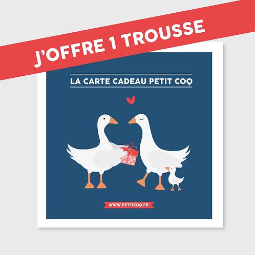 Carte cadeau Trousse