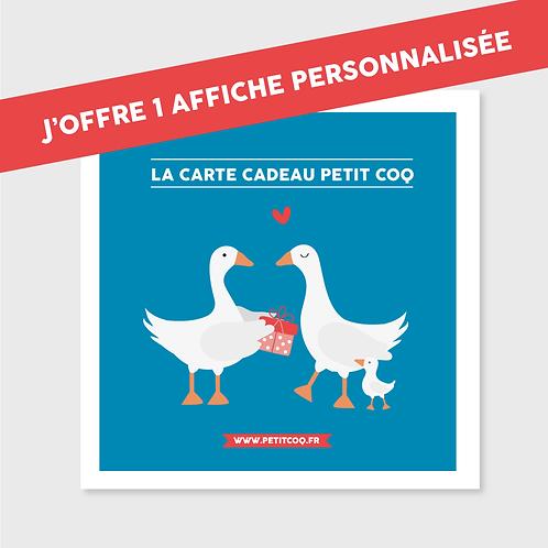 Carte cadeau Affiche personnalisable