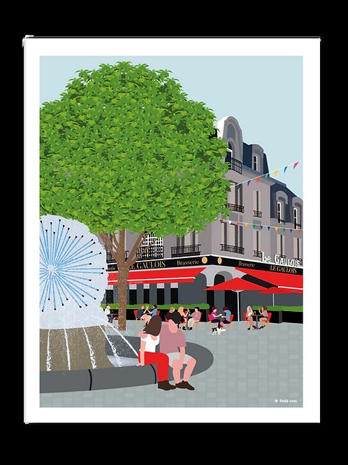 Affiche 30x40 Place D'Erlon