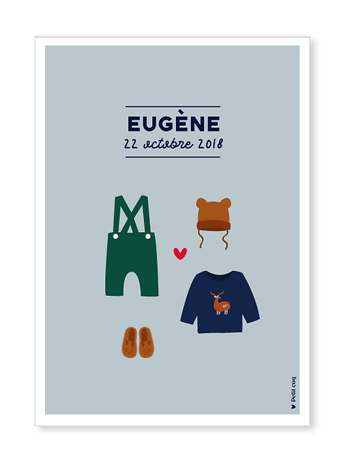 Affiche dressing Eugène