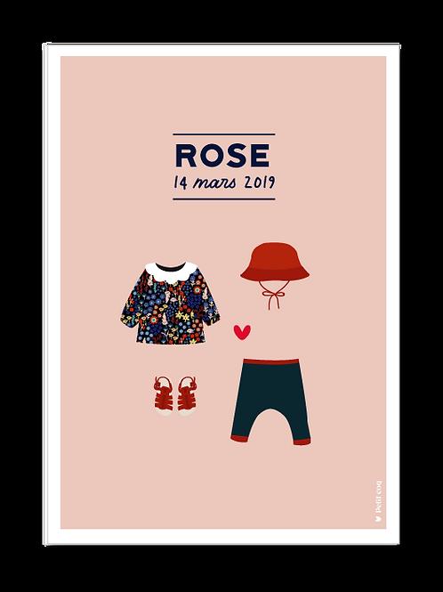 Affiche dressing Rose