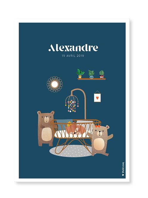Affiche Jolie chambre Alexandre