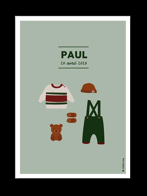 Affiche dressing Paul