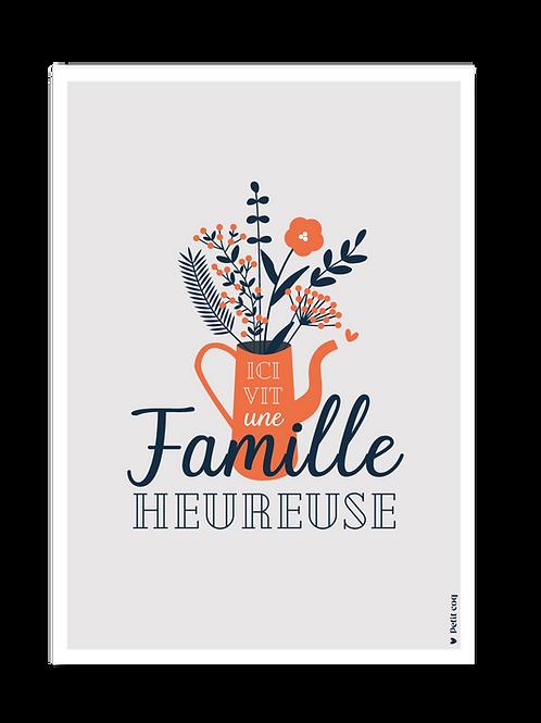 Affiche Famille Heureuse