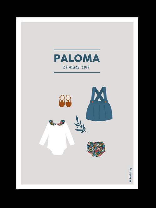 Affiche dressing Paloma