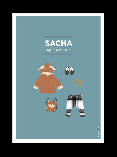Affiche dressing Sacha