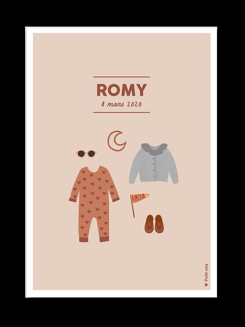 Affiche dressing Romy