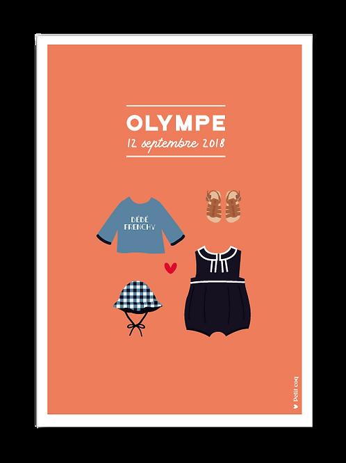 Affiche dressing Olympe