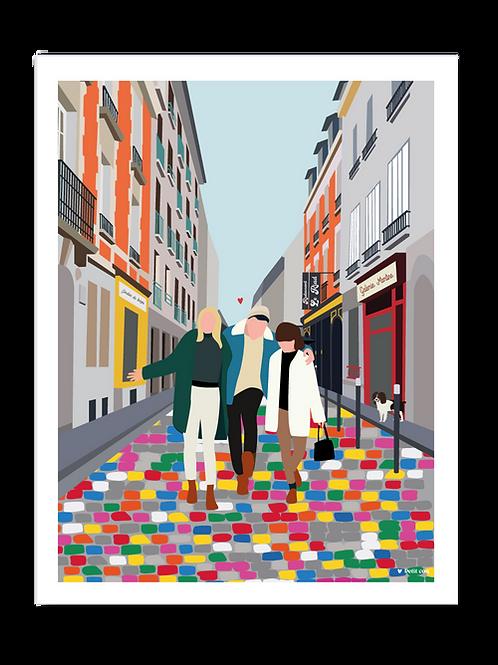 Affiche 30x40 Rue de Tambour