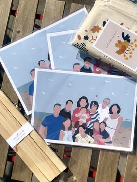 Portrait famille nombreuse