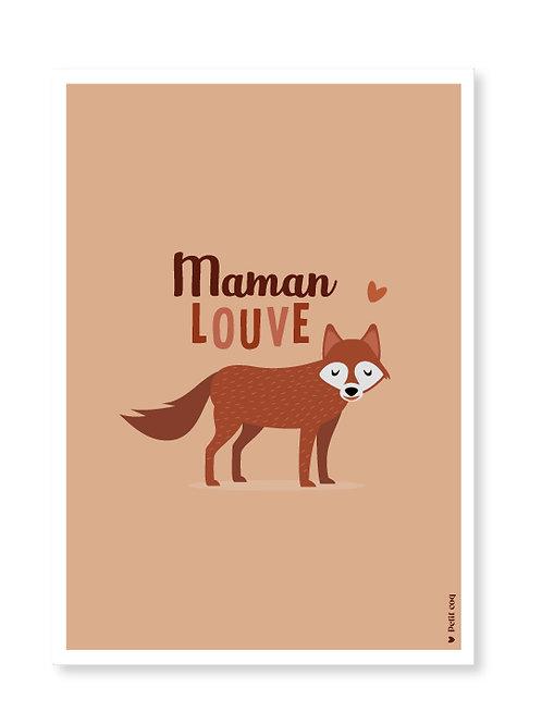 Affiche maman louve