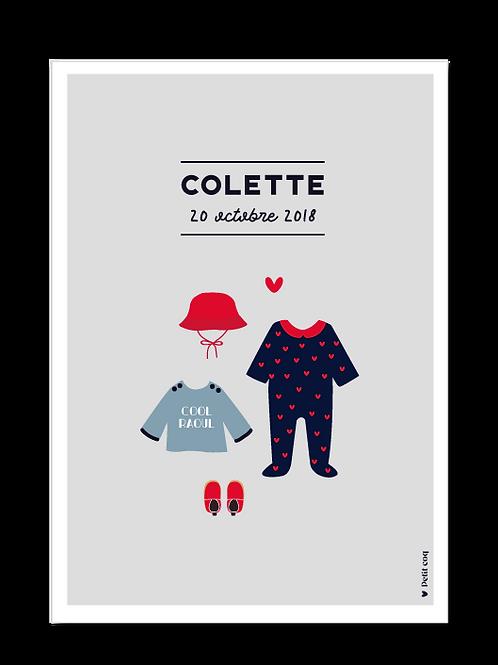 Affiche dressing Colette