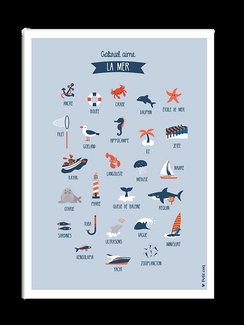 Affiche Imagier de la mer