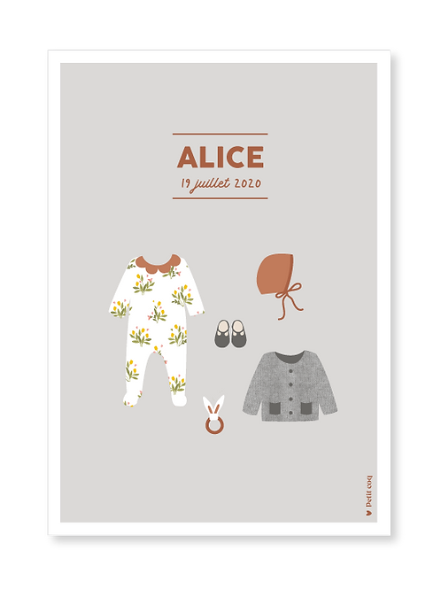 Affiche dressing Alice