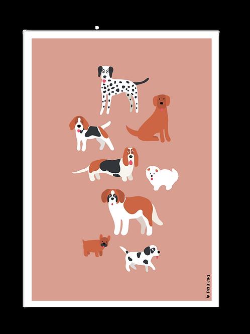 Affiche Les chiens